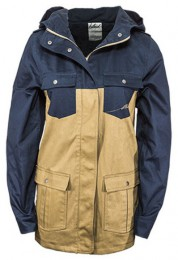 GUERILLA PARKA LADIES blue/ sand