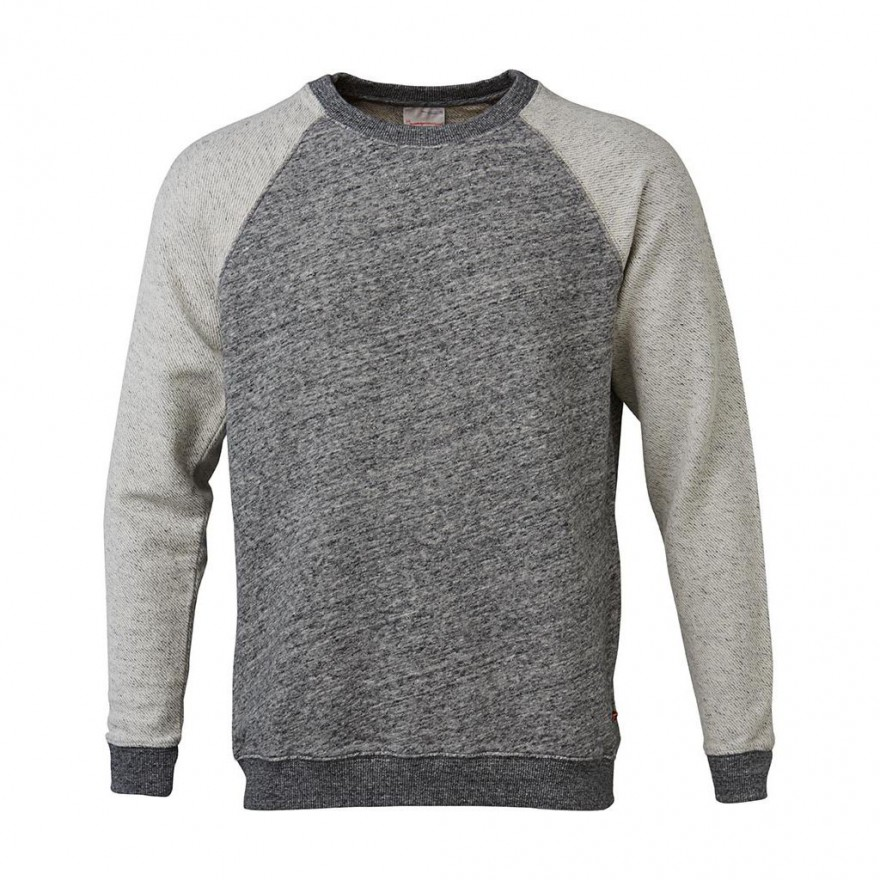 Sweat W/Sleeves in Reverse Side Fabric grey